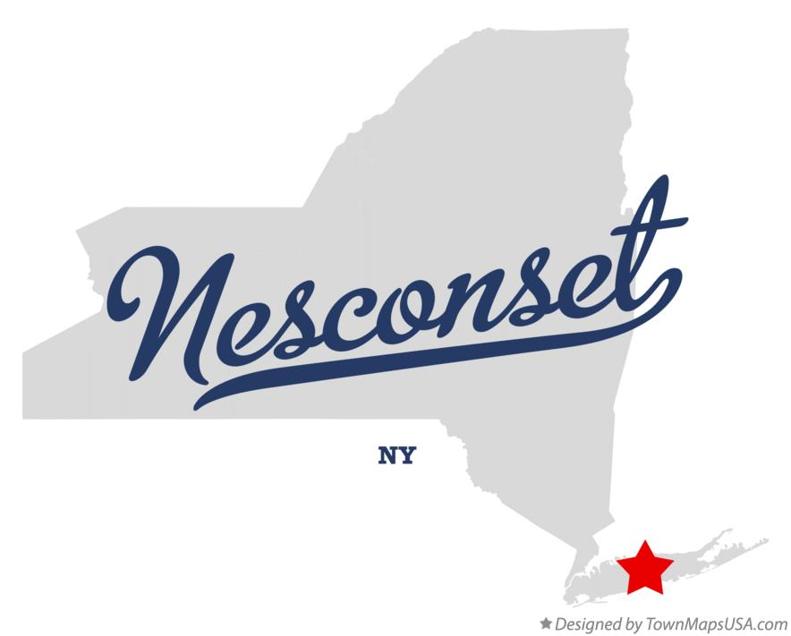 Map of Nesconset New York NY