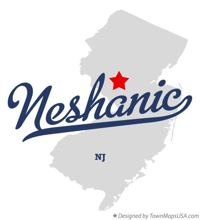 Map of Neshanic New Jersey NJ
