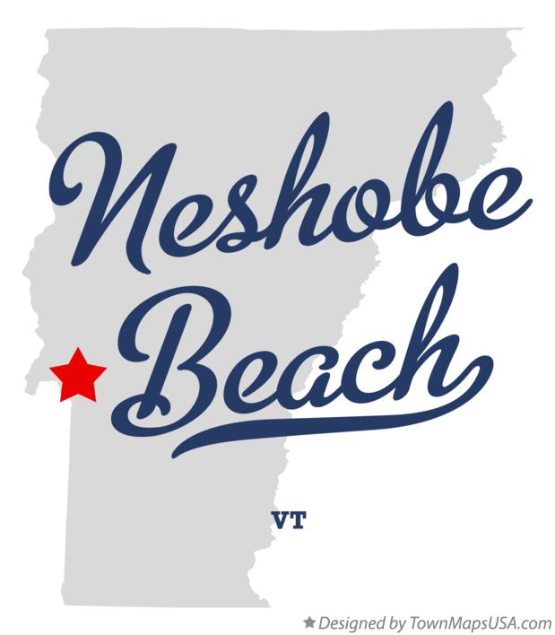 Map of Neshobe Beach Vermont VT