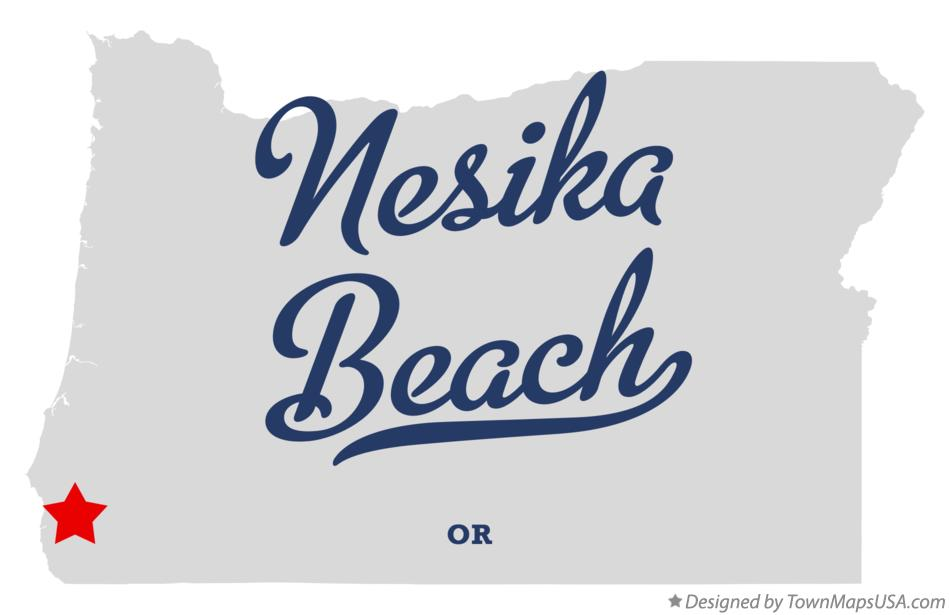 Map of Nesika Beach Oregon OR