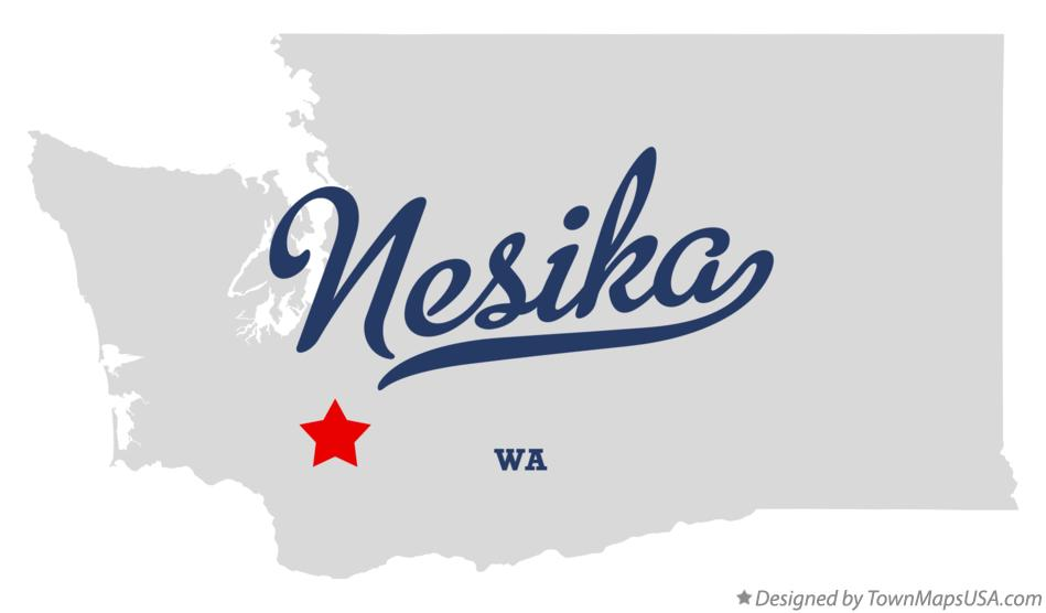 Map of Nesika Washington WA