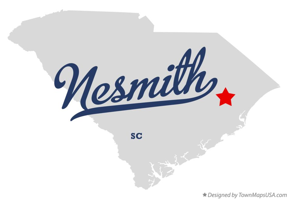 Map of Nesmith South Carolina SC