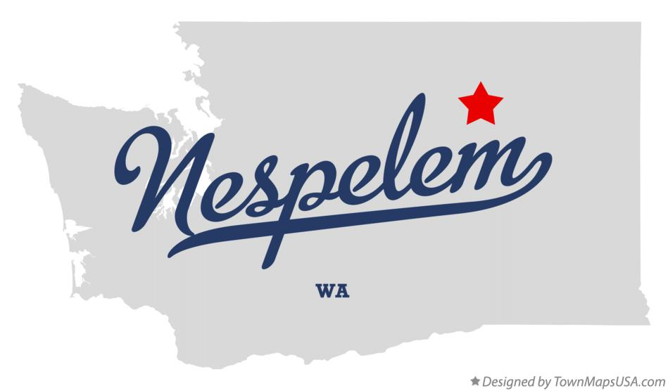 Map of Nespelem Washington WA