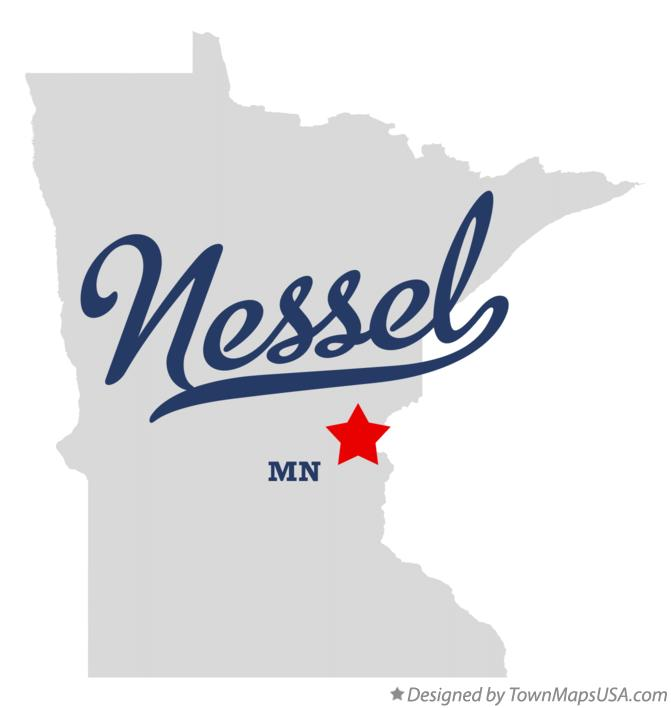 Map of Nessel Minnesota MN