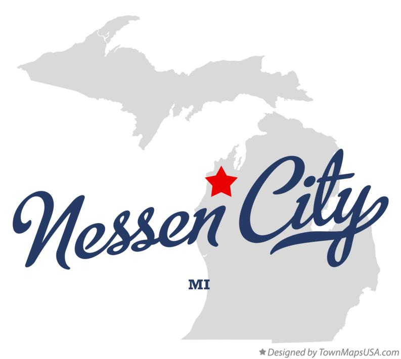 Map of Nessen City Michigan MI