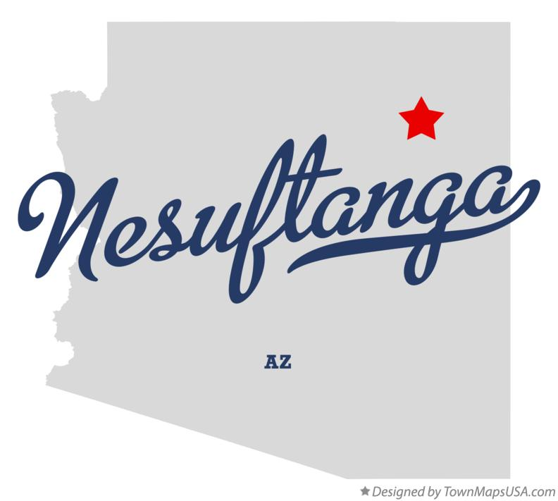 Map of Nesuftanga Arizona AZ