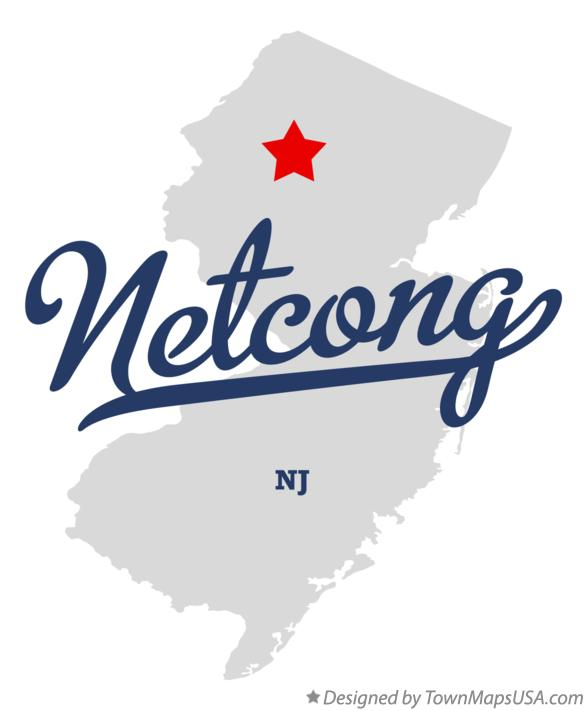 Map of Netcong New Jersey NJ
