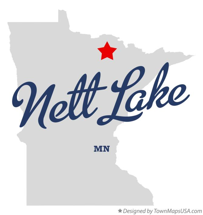 Map of Nett Lake Minnesota MN