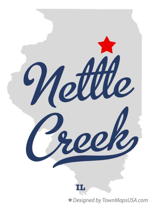 Map of Nettle Creek Illinois IL