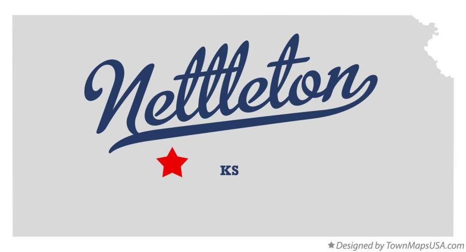 Map of Nettleton Kansas KS