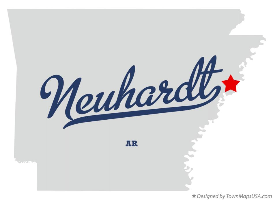Map of Neuhardt Arkansas AR
