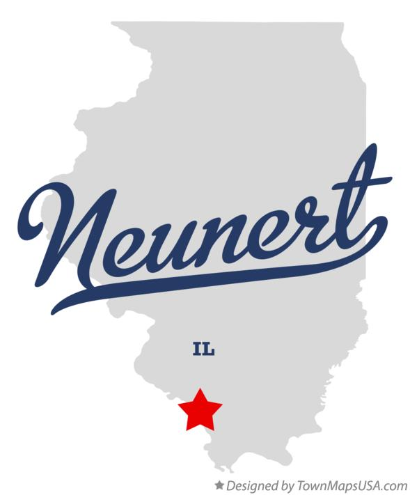 Map of Neunert Illinois IL