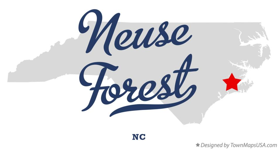 Map of Neuse Forest North Carolina NC