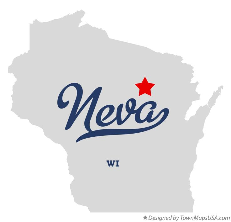 Map of Neva Wisconsin WI