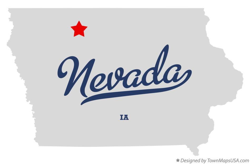 Map of Nevada Iowa IA