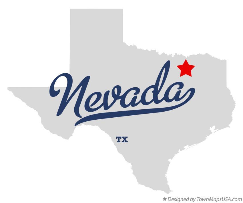 Nevada Texas Map Map of Nevada, TX, Texas