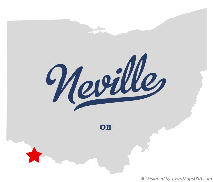 Map of Neville Ohio OH