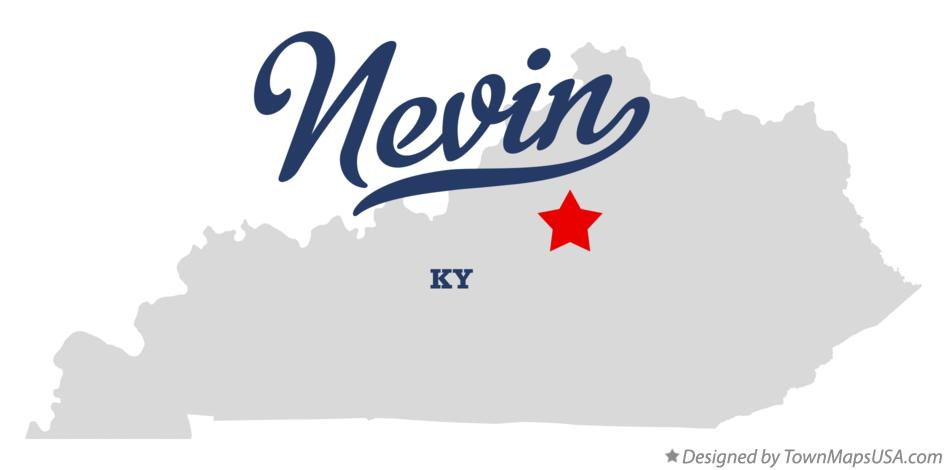 Map of Nevin Kentucky KY