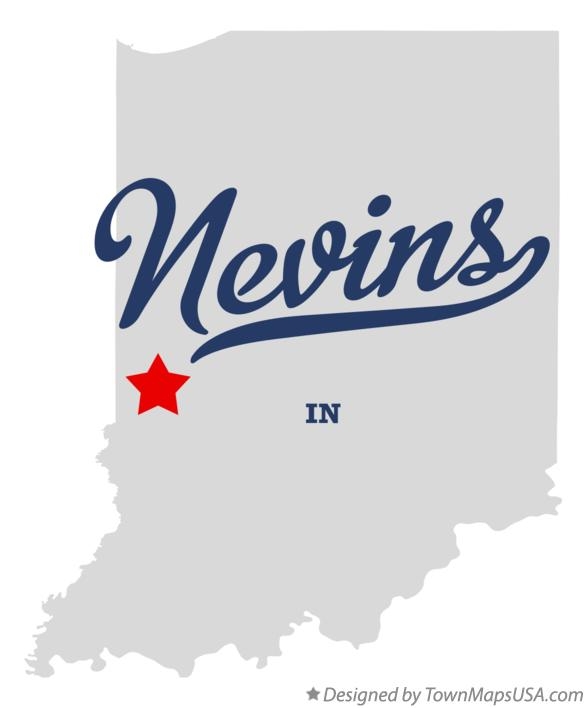 Map of Nevins Indiana IN