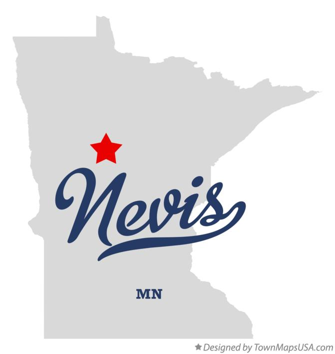 Map of Nevis Minnesota MN