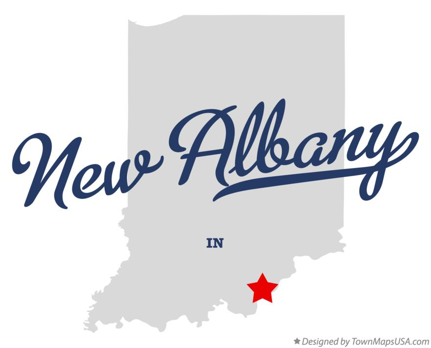 Map of New Albany Indiana IN
