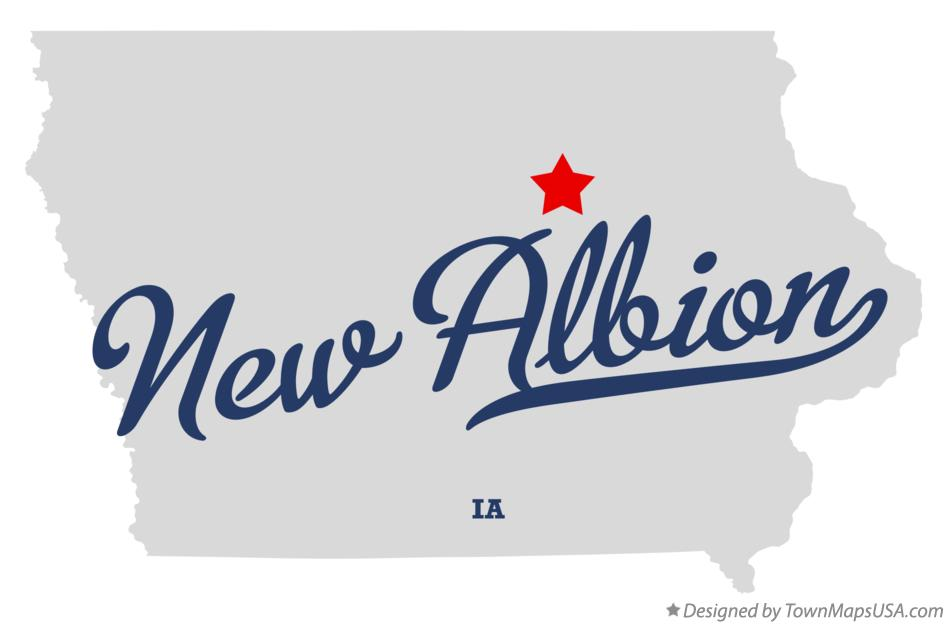 Map of New Albion Iowa IA