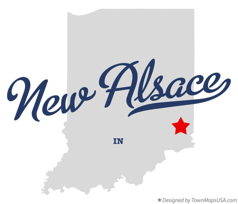Map of New Alsace Indiana IN