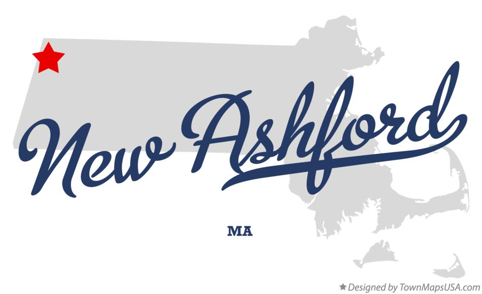 Map of New Ashford Massachusetts MA