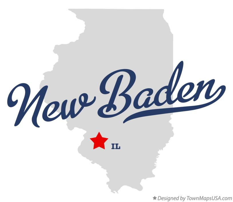 Map of New Baden Illinois IL
