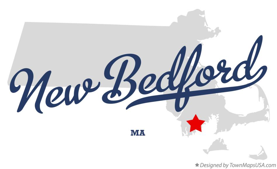Map of New Bedford Massachusetts MA
