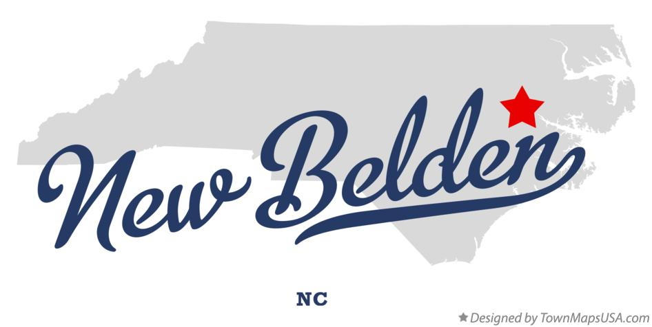 Map of New Belden North Carolina NC
