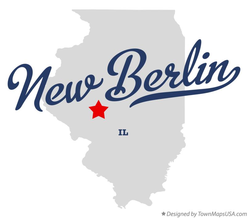Map of New Berlin Illinois IL
