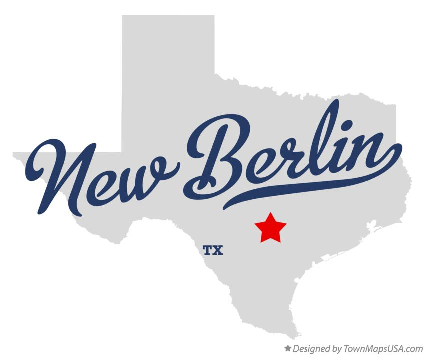 Map of New Berlin Texas TX
