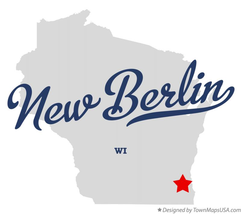 Map of New Berlin Wisconsin WI