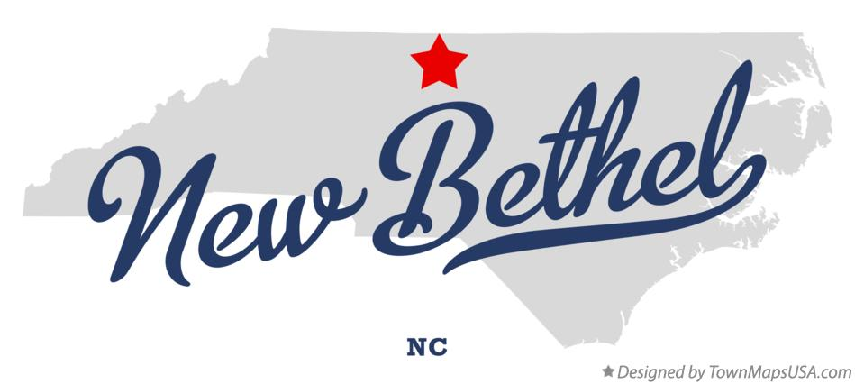 Map of New Bethel North Carolina NC