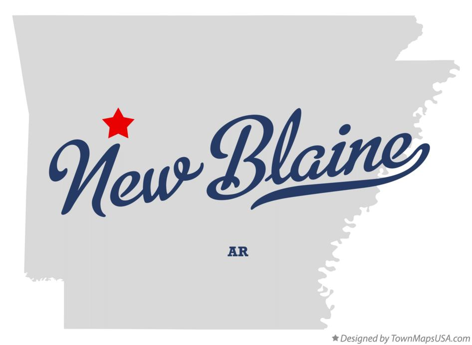 Map of New Blaine Arkansas AR