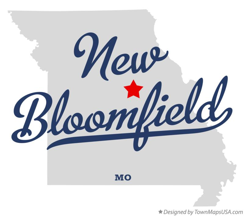 Map of New Bloomfield Missouri MO
