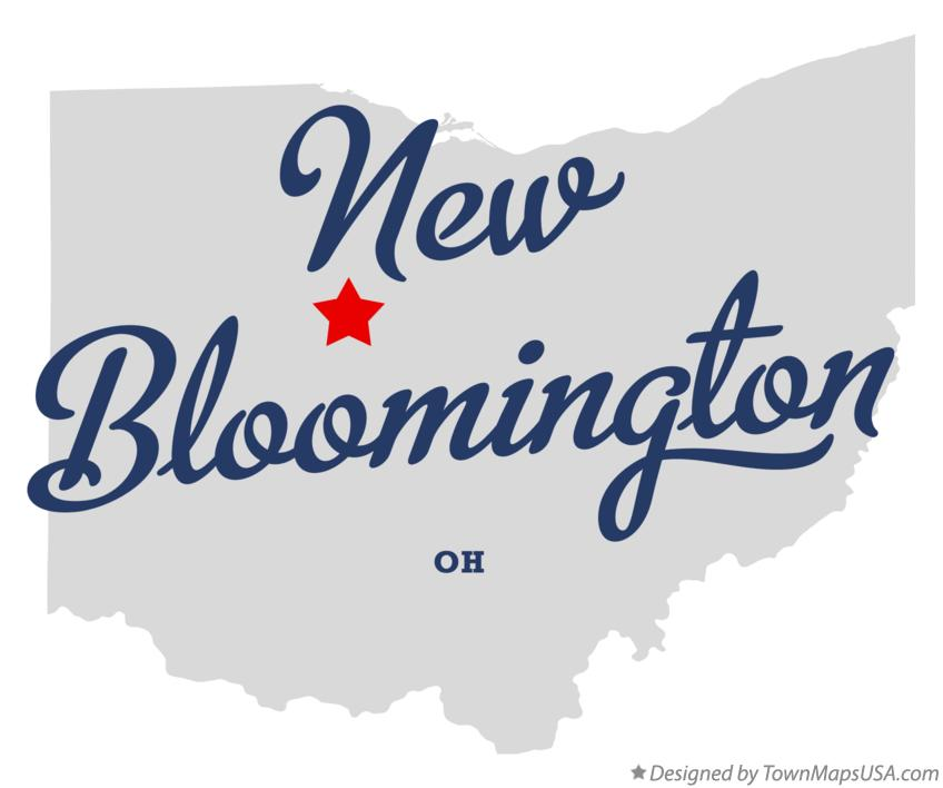 Map of New Bloomington Ohio OH