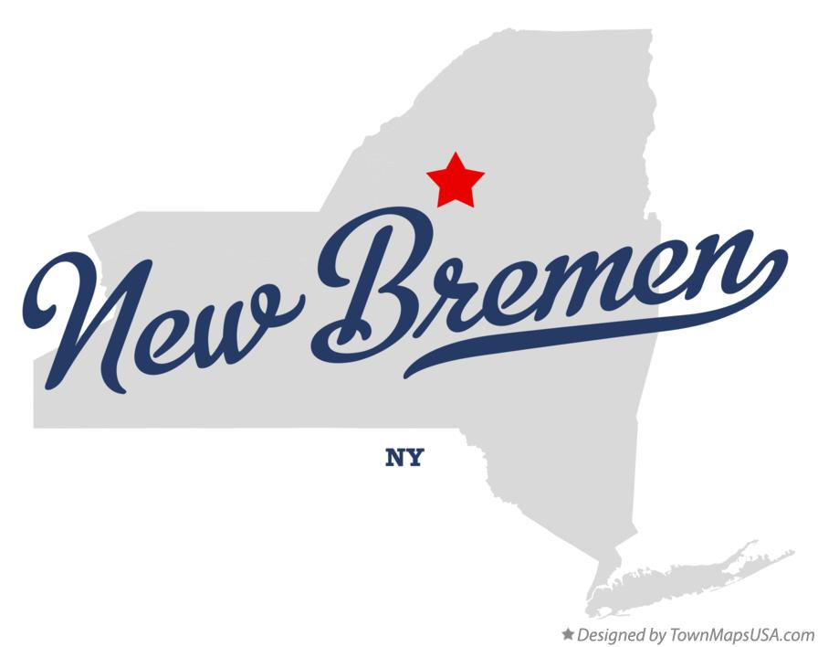 Map of New Bremen New York NY