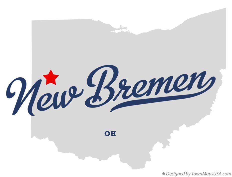 Map Of New Bremen Oh Ohio
