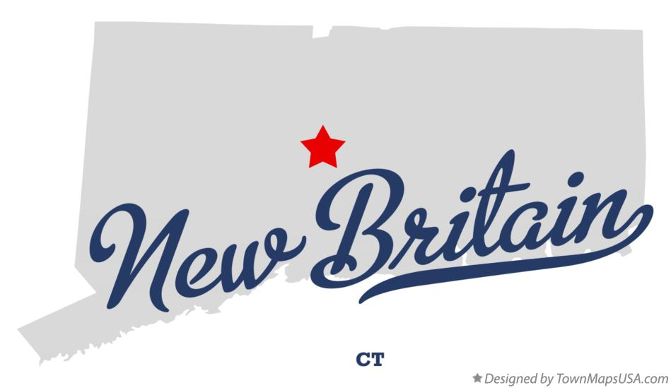 Map of New Britain Connecticut CT