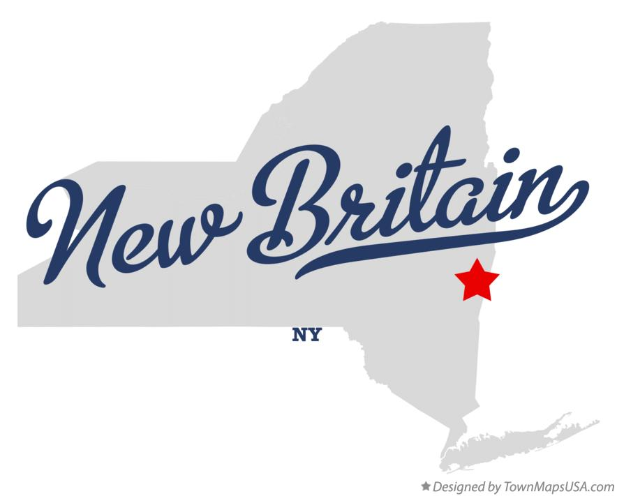 Map of New Britain New York NY