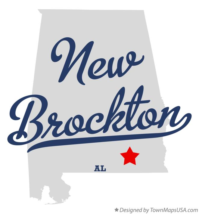 Map of New Brockton Alabama AL