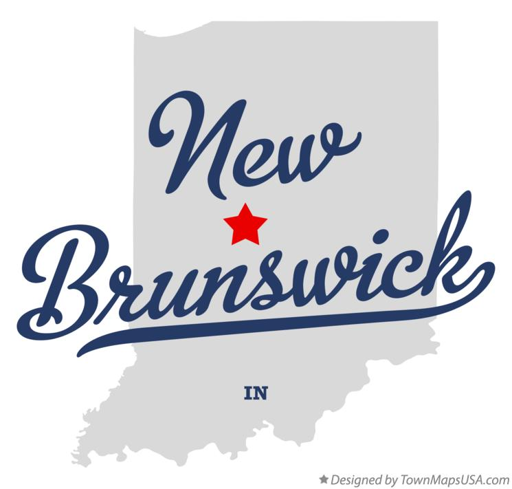 Map of New Brunswick Indiana IN