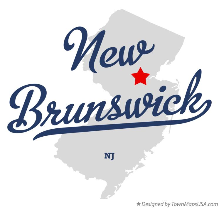 Map Of New Brunswick, NJ, New Jersey