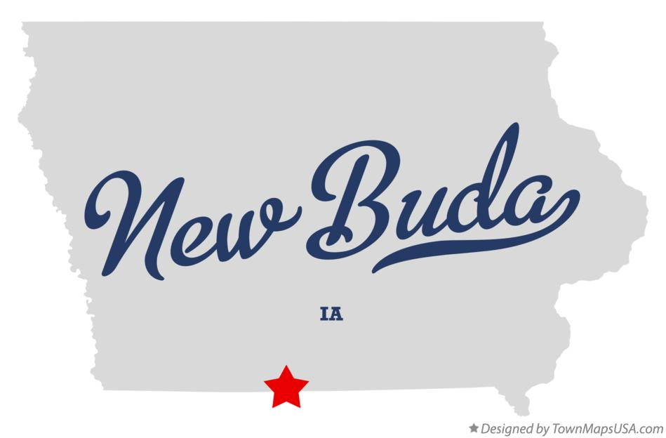 Map of New Buda Iowa IA