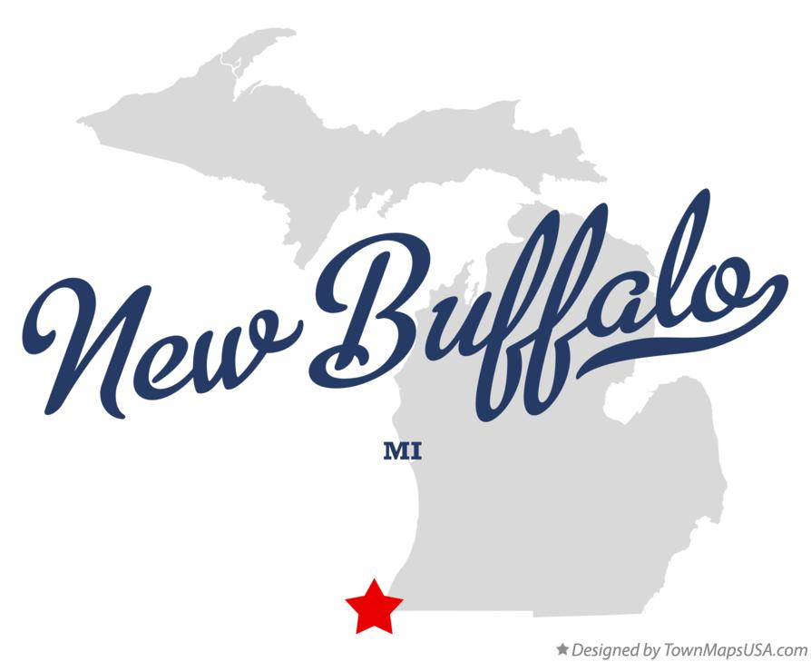 New Buffalo Michigan Map.Map Of New Buffalo Mi Michigan
