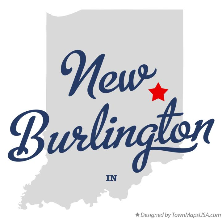 Map of New Burlington Indiana IN