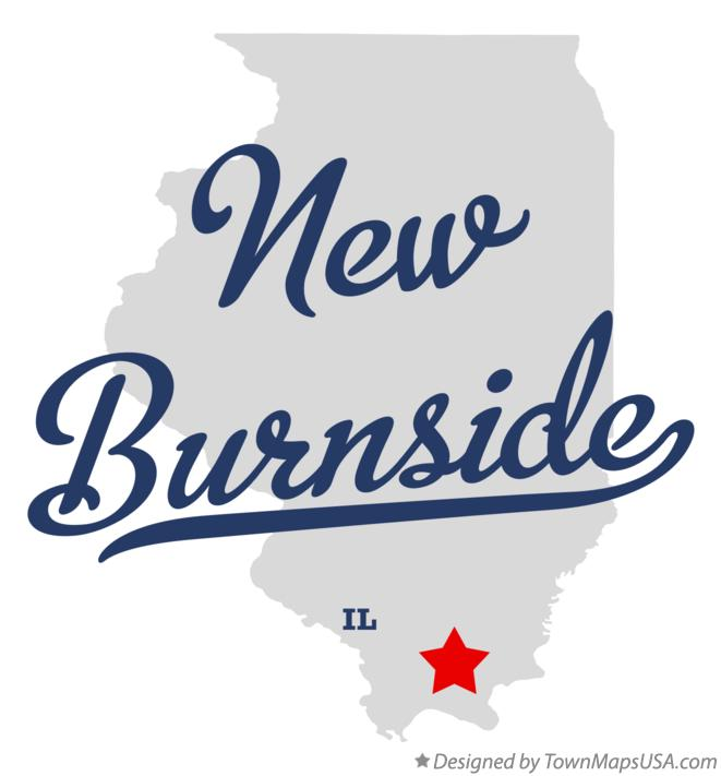 Map of New Burnside Illinois IL