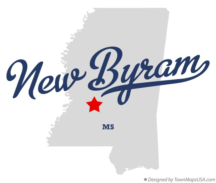 Map of New Byram Mississippi MS
